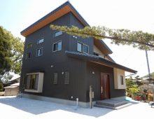 片流れ屋根の和モダンの家:福岡・北九州のハウスメーカー株式会社イコーハウス