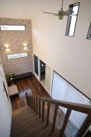 小倉南区新築注文住宅 2階から階段吹抜:福岡・北九州のハウスメーカー株式会社イコーハウス