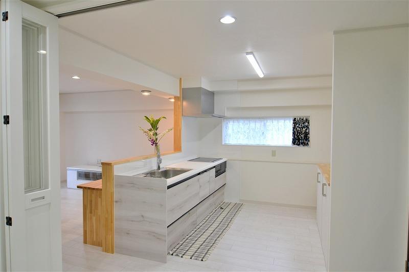 北九州市八幡マンションリノベ対面キッチン