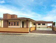 平屋の広い戸建て新築注文住宅外観 北九州市小倉 イコーハウス
