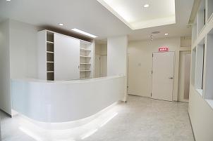 クリニック診療所新築 カウンター 内装 北九州市イコーハウス施工