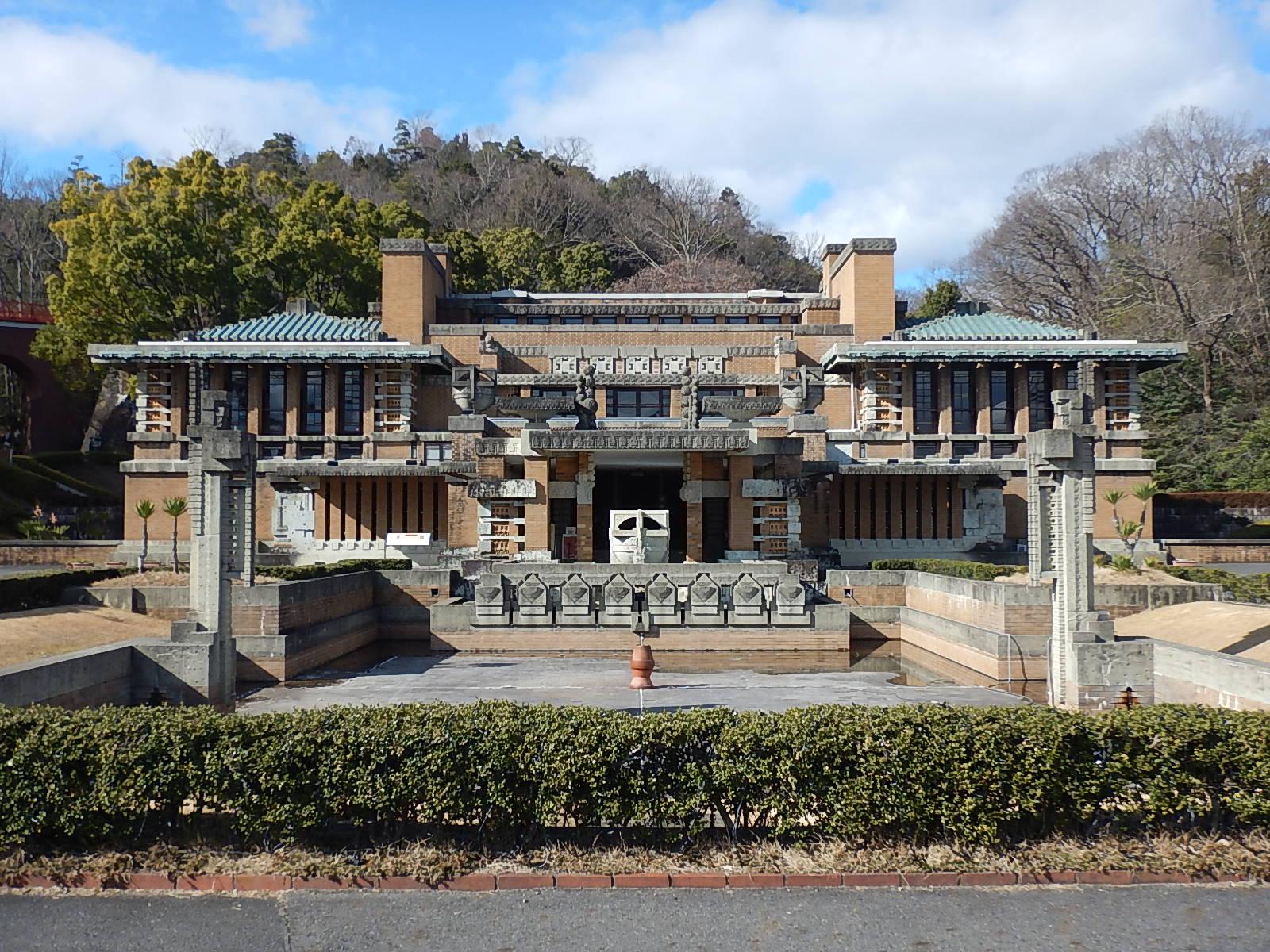 フランクロイドライト設計 旧東京帝国ホテル玄関棟